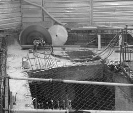 Corte de hormigón armado con disco 4